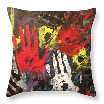 Clean Hands Throw Pillow