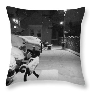 Clean Night Throw Pillow
