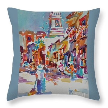 Throw Pillow featuring the painting Clean Sweep, Frank Nash Award, Transparent Watercolor Society Of America, 2015 by Roger Parent