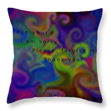 Cleansing Prayer Throw Pillow by Manuela Constantin