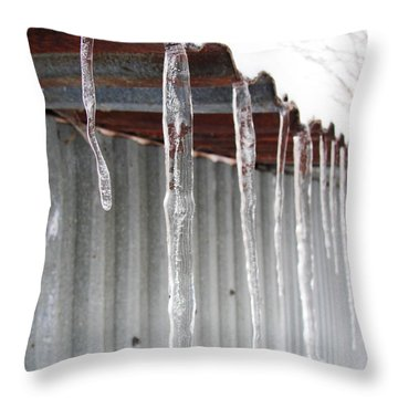 Throw Pillow featuring the photograph Clear As Glass by Tiffany Erdman