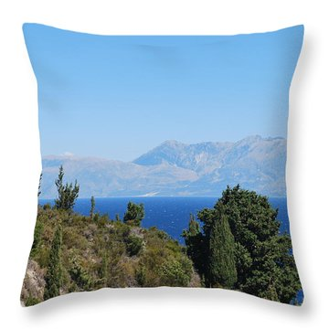 Throw Pillow featuring the photograph Clear Day by George Katechis