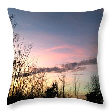 Throw Pillow featuring the photograph Clear Evening Sky by Linda Bailey
