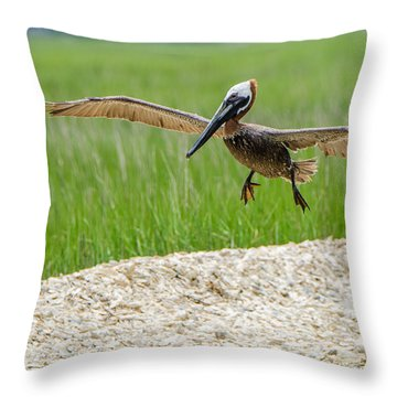 Clear For Landing Throw Pillow