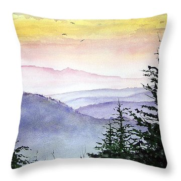 Clear Mountain Morning II Throw Pillow