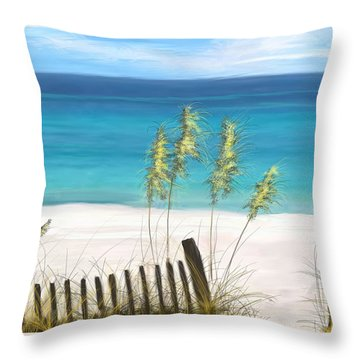 Throw Pillow featuring the drawing Clear Water Florida by Anthony Fishburne