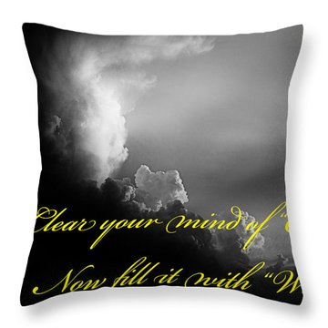Clear Your Mind Throw Pillow