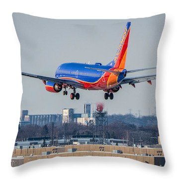Cleared For Landing Throw Pillow by Tom Gort