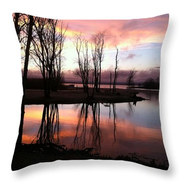 Clearing On The River Throw Pillow