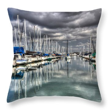 Clearing Storm Throw Pillow by Heidi Smith