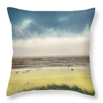 Clearing Storm Montauk  Throw Pillow