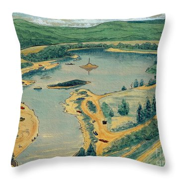Clearwater Lake Early Days Throw Pillow by Kip DeVore