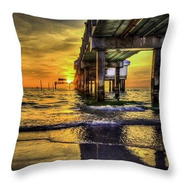 Clearwater Pier Throw Pillow by Marvin Spates