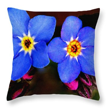 Clematis Flowers Throw Pillow by Bob and Nadine Johnston