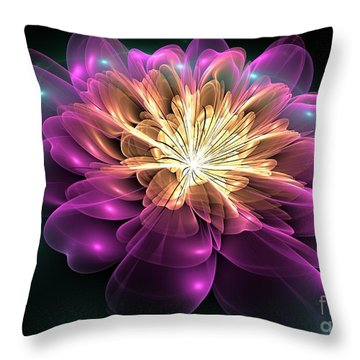 Clematis Magica Throw Pillow