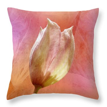 Clematis Opening Throw Pillow