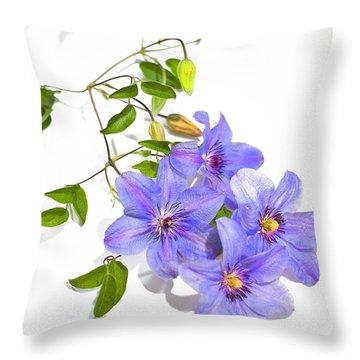 Clematis Throw Pillow