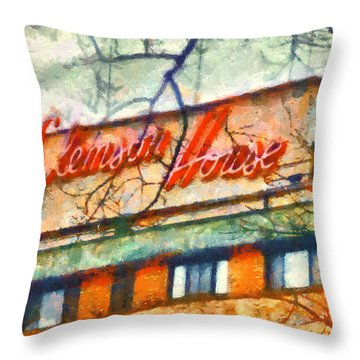 Clemson House Throw Pillow by Lynne Jenkins