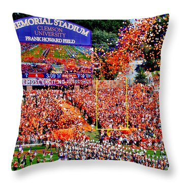 Clemson Tigers Memorial Stadium Throw Pillow