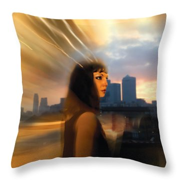 Cleo Scape Throw Pillow