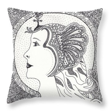 Cleopatra  Throw Pillow