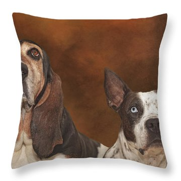 Cleopitra And Elvis  Throw Pillow