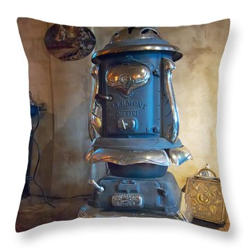 Clermont No 136 Pot Belly Stove Throw Pillow