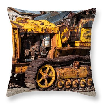 Cletrac 20k Throw Pillow by Kathleen Bishop