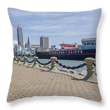 Cleveland Lake Front Throw Pillow