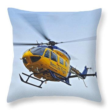 Cleveland Metro Life Flight Throw Pillow by Frozen in Time Fine Art Photography