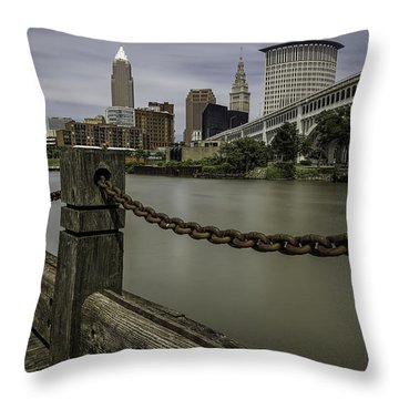 Cleveland Ohio Throw Pillow by James Dean