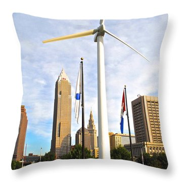 Cleveland Ohio Science Center Throw Pillow by Frozen in Time Fine Art Photography
