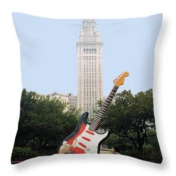 Cleveland Rocks Throw Pillow