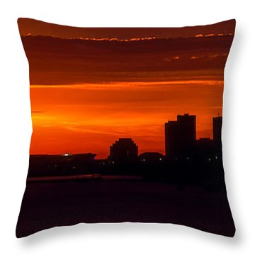 Cleveland Silhouette Throw Pillow by Dale Kincaid