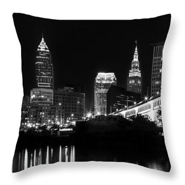 Cleveland Skyline Throw Pillow by Dale Kincaid