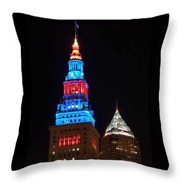 Cleveland Towers Throw Pillow