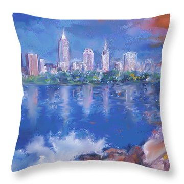 Cleveland View Throw Pillow