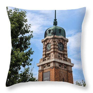 Cleveland West Side Market Tower Throw Pillow