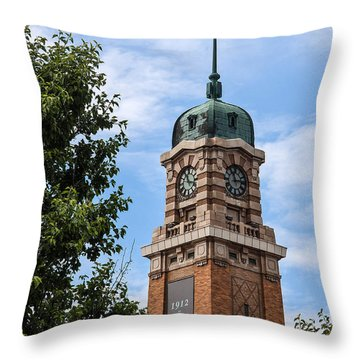 Cleveland West Side Market Tower Throw Pillow by Dale Kincaid