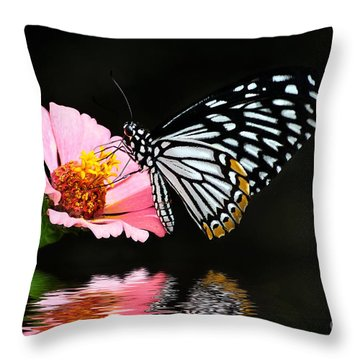 Throw Pillow featuring the photograph Cliche by Lois Bryan
