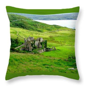 Clifden Castle Throw Pillow
