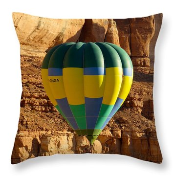 Cliff Coasting Throw Pillow by Feva  Fotos