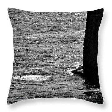 Cliff Diver Joy Throw Pillow