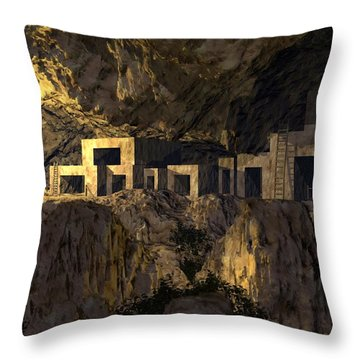 Cliff Dwellers Throw Pillow by John Pangia