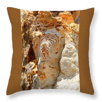 Cliff Face Throw Pillow by Tap On Photo