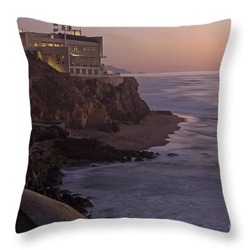 Cliff House Sunset Throw Pillow