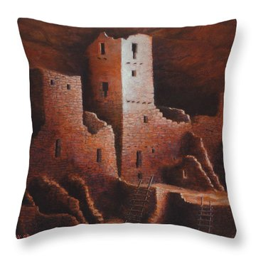 Cliff Palace Throw Pillow by Jerry McElroy