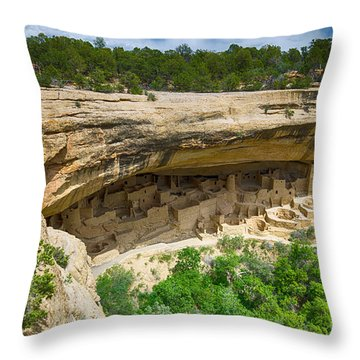 Throw Pillow featuring the photograph Cliff Palace by Juergen Klust