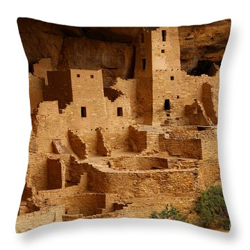 Cliff Palace Throw Pillow by Marty Fancy