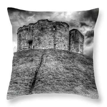 Throw Pillow featuring the photograph Clifford's Tower by Ross G Strachan
